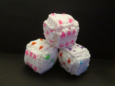Rainbow  Loom Alpha Loom Dice Charms, Cube, Box, Keepsake or Jewelry Box.