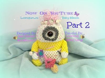 Rainbow Loom BABY Minion - Part 2 of 4 - Loomigurumi. Amigurumi - Looming WithCheryl