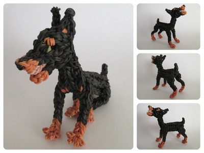 Rainbow Loom dobermann puppy Part 1.2 Loombicious