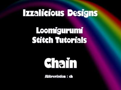 Rainbow Loom Loomigurumi.Amigurumi Chain Stitch Tutorial - crocheting with loom bands