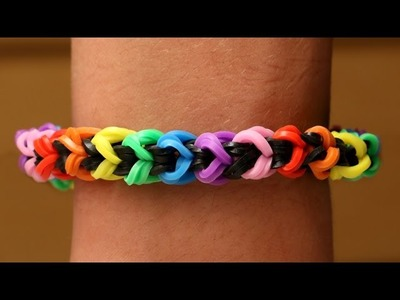 Rainbow Loom English - SNAKELET - Loom Bands, easy, how to, DIY