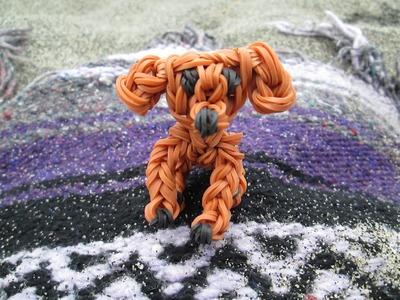 Rainbow Loom Golden Retriever Dog or Puppy. 3-D Charm.