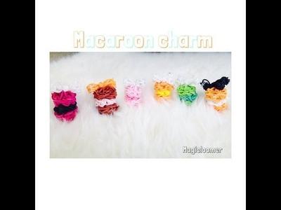 Rainbow loom mini puffy macaron part 1