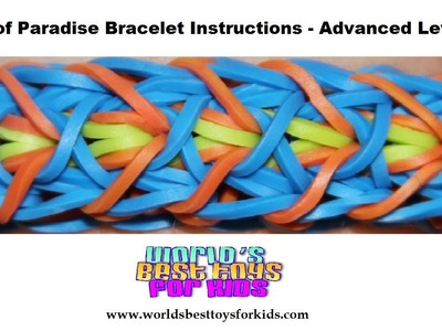 Rainbow Loom Rubber Band Refill - Bird of Paradise Bracelet Instructions