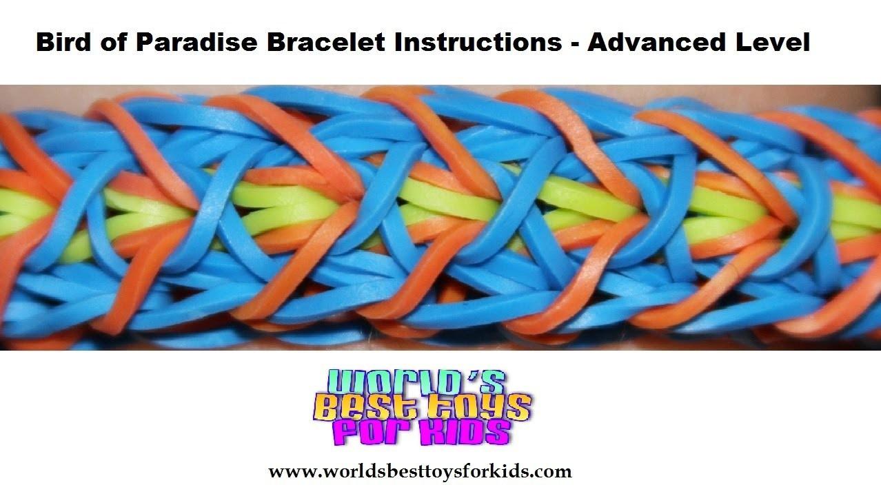 Rainbow Loom Rubber Band Refill - Bird of Paradise Bracelet Instructions