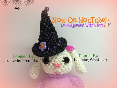 Rainbow Loom Witch hat - Loomigurumi. Amigurumi - looming WithCheryl