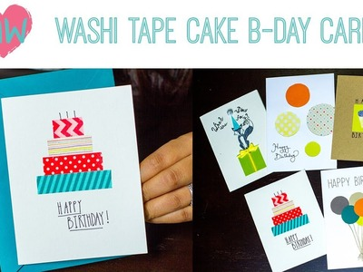 Washi Tape Cake Birthday Card