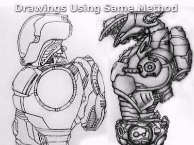 Big D.'s Drawing Tutorial - Drawing a Robotic Leg Part 1
