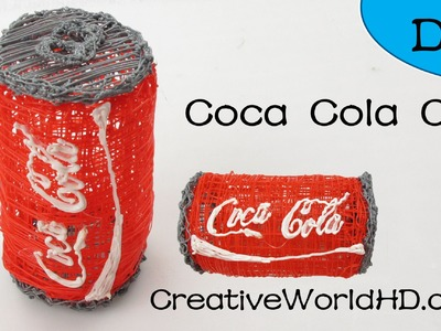 Coca Cola Can 3D- How to Tutorial 3D Printing Pen.Scribbler DIY
