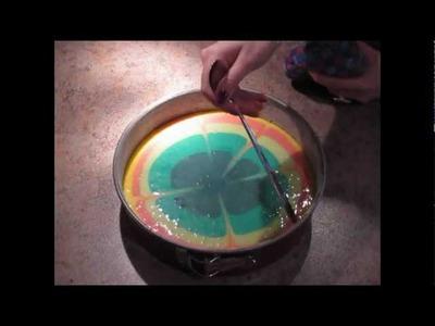 Colourful Lemon Cake Recipe | Bunter Zitronenkuchen Rezept (Regenbogekuchen)
