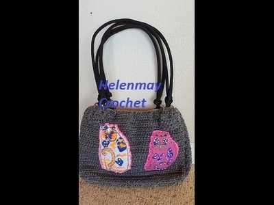 Crochet Zipper Bag Purse with Lining DIY Tutorial