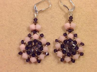 Crystal Pinwheel Earrings Tutorial