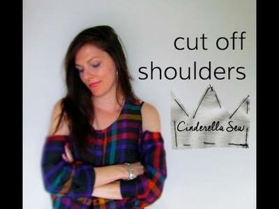 Cut Out Shoulders of a Shirt - DIY Tutorial