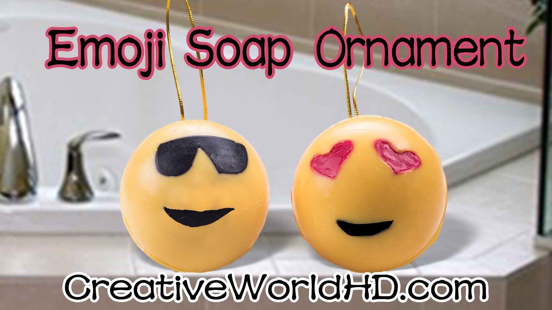 DIY: 3D Emoji Ornament Soap.Gift Idea.Holiday Christmas - How to Tutorial by Creative World