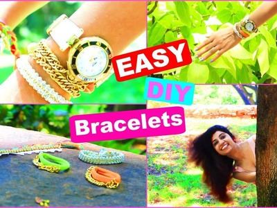DIY Bracelets tutorial | 3 Easy DIY Bracelets projects