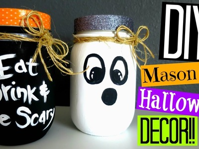 DIY Halloween Decor | Mason Jar Decorations!!