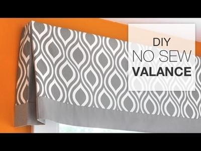 DIY No Sew Valance Tutorial