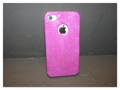 DIY Pink Glitter Cell Phone Case   Dollar Store Makeover How To