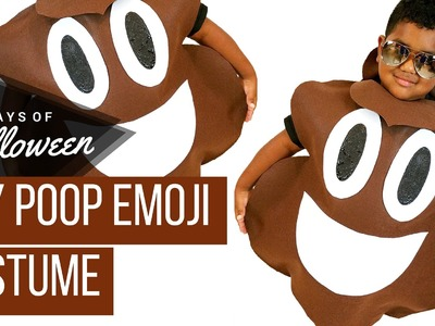 DIY Poop Emoji Costume #JPHalloween 30 Days of Halloween