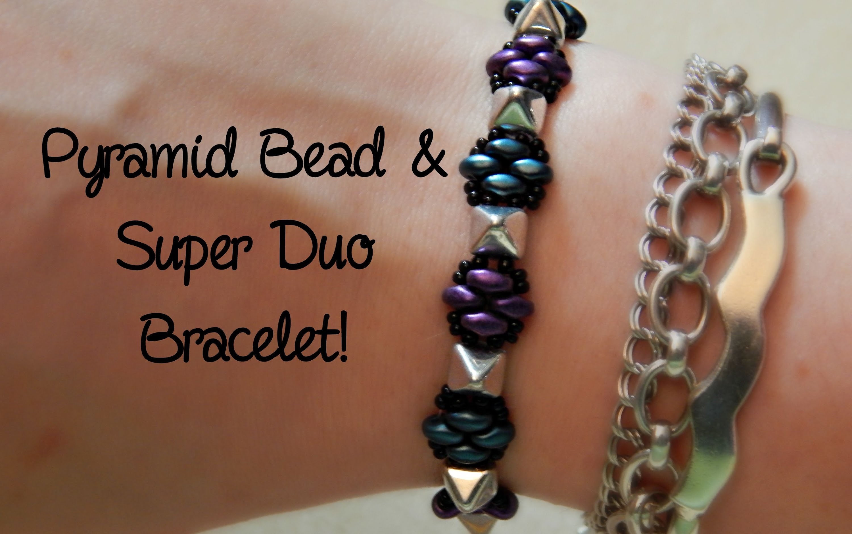 DIY Pyramid Bead and Super Duo Bracelet! ¦ The Corner of Craft