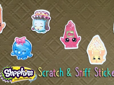 DIY Shopkins Scratch and Sniff Stickers Tutorial (Using Koolaid!)