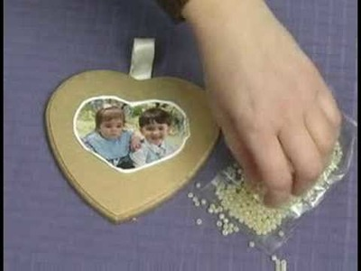 Encrusted Bead Projects : Beaded Plaque Craft: Glue Beads on Pictures