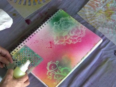 Fast and Fancy Mixed Media Backgrounds Lesson 5