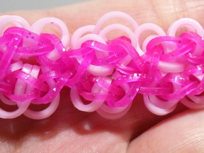 Flower Power Rainbow Loom Bracelet without a Loom with 2 Fork How to make Bracelet