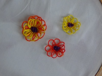 Hand Embroidery: Looped Stitch