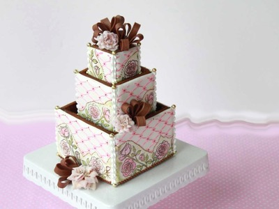 How to Assemble 3-D Cookie Wedding Cake Boxes