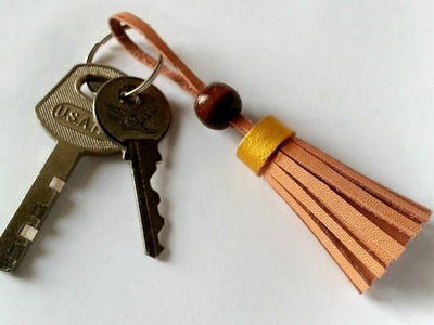 How To Create a Cool Leather Tassel Key Chain - DIY Style Tutorial - Guidecentral