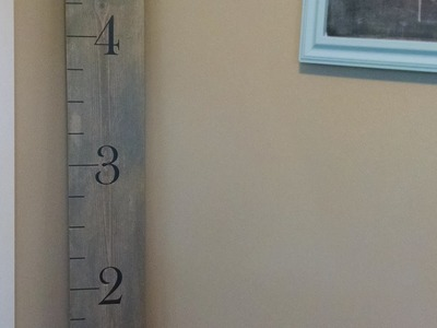 How To Create a Ruler Growth Chart - DIY Home Tutorial - Guidecentral