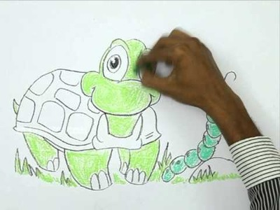 How to Draw a Friendly Turtle