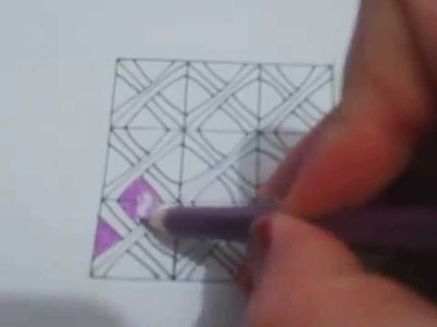 How to draw B'twined zentangle pattern ?
