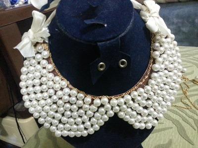 How to make a Beaded Collar Necklace - Tutorial .