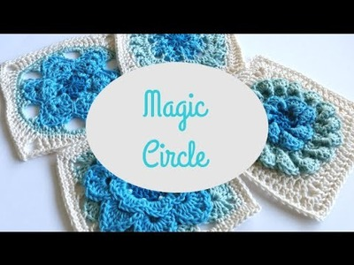 How to make a crochet Magic Circle by Shelley Husband Spincushions
