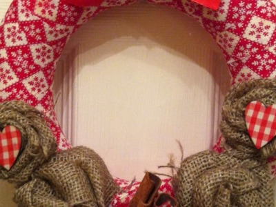 How To Make a Cute and Easy Fabric Wreath - DIY Home Tutorial - Guidecentral
