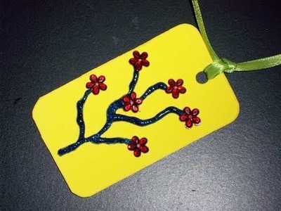 How to make a foam Cherry Blossom Bookmark - EP