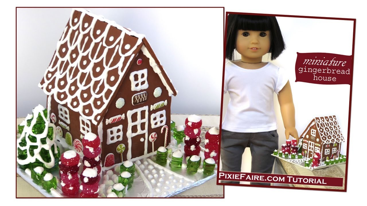 How To Make a Gingerbread House for Dolls