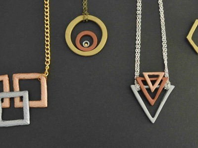 How To Make A Gorgeous Faux Metal Geometric Necklace - DIY Style Tutorial - Guidecentral