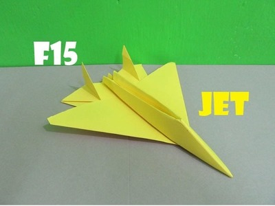 How to Make a Paper F15 Eagle Jet Fighter Plane - Easy Tutorials