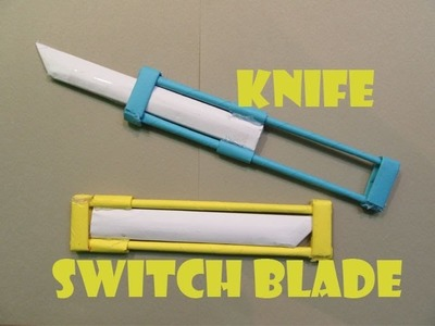 How to Make a Paper Knife(Switch blade) - Easy Tutorials