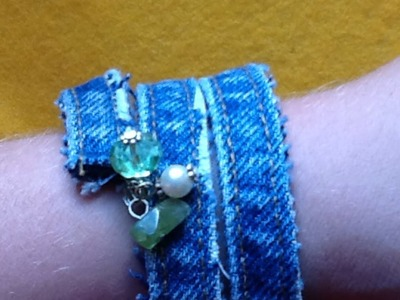 How To Make a Rad Recycled Jean Bracelet - DIY Style Tutorial - Guidecentral