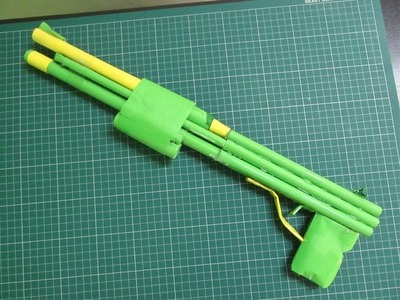 How to Make a super Powerful Short Gun that shoots rubber bands - Easy Tutorials