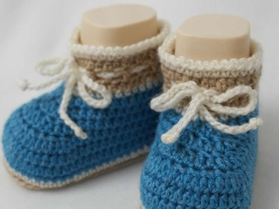 How To Make Cute Crocheted Baby Boy Booties - DIY Crafts Tutorial - Guidecentral