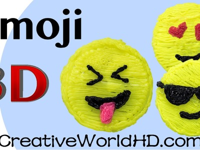 How to Make Emoji Face - 3D Printing Pen Creations.Scribbler DIY Tutorial