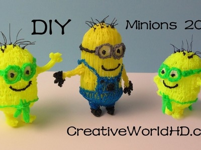 How to Make Minion 2015 - 3D Printing Pen Creations.Scribbler DIY Tutorial