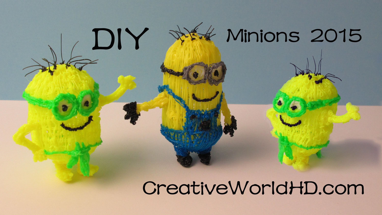 How to Make Minion 2015 - 3D Printing Pen Creations.Scribbler DIY Tutorial