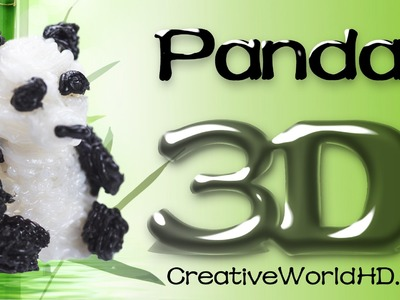 How to Make Panda Bear - 3D Printing Pen Creations.Scribbler DIY Tutorial