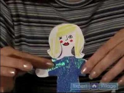 How to Make Paper Dolls : Paper Dolls: How to Make Shiny Dresses for Paper Dolls